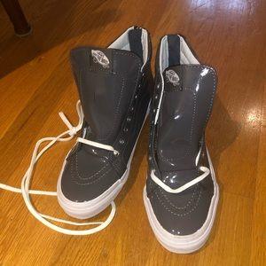 Shoes - New vans sk8-hi Gray patent leather